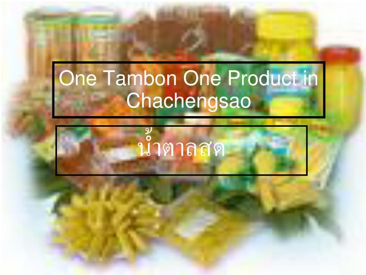 one tambon one product in chachengsao n.