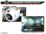 hyperbaric testing facility