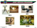joint service programs