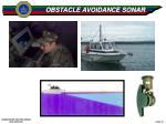 obstacle avoidance sonar