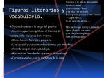 figuras literarias y vocabulario