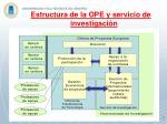 estructura de la ope y servicio de investigaci n