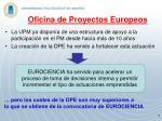oficina de proyectos europeos