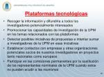 plataformas tecnol gicas