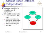 address space obtained independently