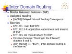 inter domain routing