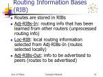 routing information bases rib
