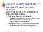 signs of routing instability