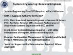 systems engineering renewed emphasis