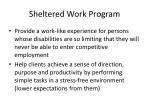 sheltered work program