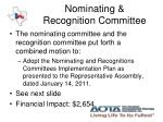 nominating recognition committee