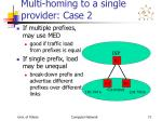multi homing to a single provider case 2