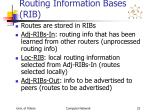 routing information bases rib