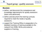 expert group quality assessors