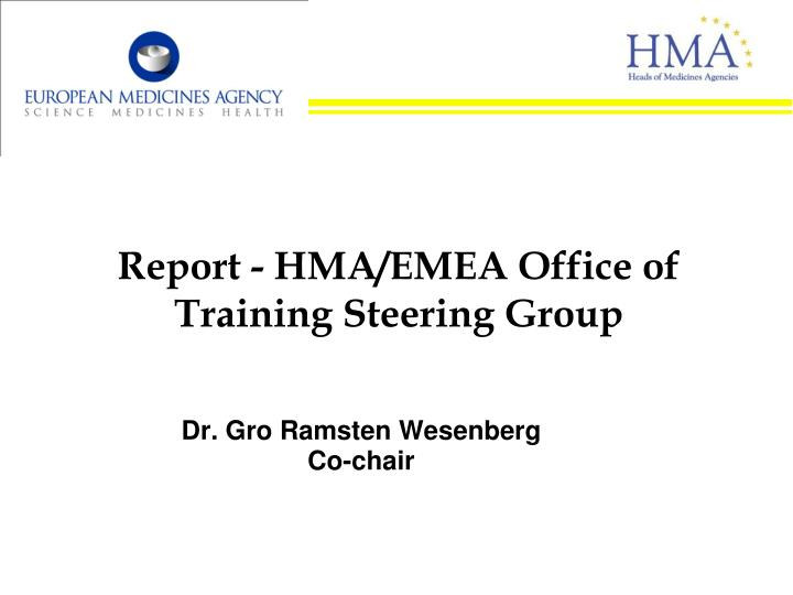 report hma emea office of training steering group n.
