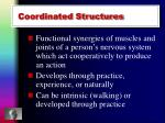 coordinated structures