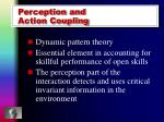 perception and action coupling
