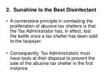 2 sunshine is the best disinfectant