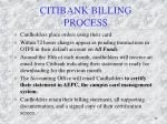 citibank billing process