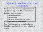 citibank procurement card overview