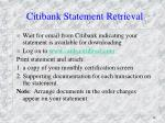 citibank statement retrieval