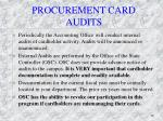 procurement card audits