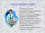 visa credit limit