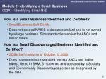 module 2 identifying a small business 002a identifying small biz
