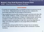 module 3 how small business programs work 003m small business program success