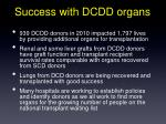 success with dcdd organs