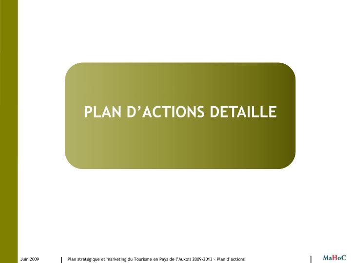 PLAN D'ACTIONS DETAILLE
