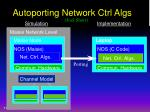 autoporting network ctrl algs
