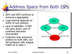address space from both isps
