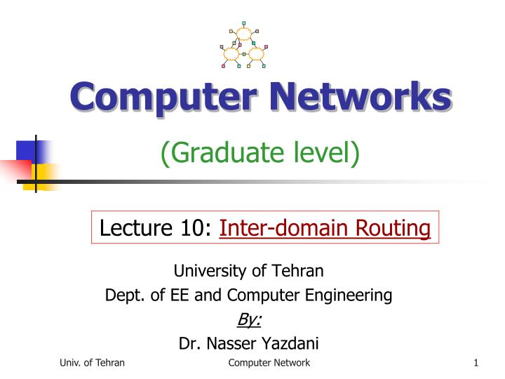 computer networks graduate level n.