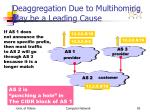 deaggregation due to multihoming may be a leading cause
