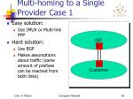 multi homing to a single provider case 1