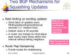 two bgp mechanisms for squashing updates