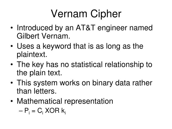Vernam Cipher