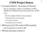cmm project demos