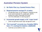 australian pension system