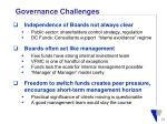 governance challenges