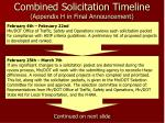 combined solicitation timeline appendix h in final announcement1