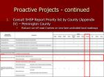 proactive projects continued