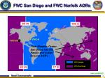 fwc san diego and fwc norfolk aors
