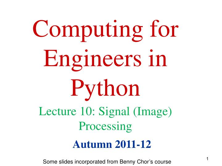 computing for engineers in python n.