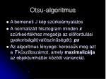 otsu algoritmus