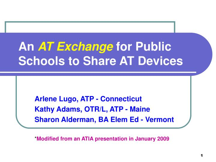 an at exchange for public schools to share at devices n.