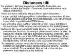 distances tilti
