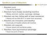 sandhu s laws of attackers