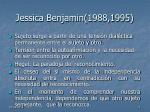 jessica benjamin 1988 1995